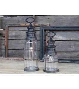 Fransk Stald lanterne medel-pære og timer fra Chic Antique