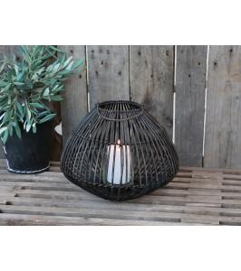 chic antique lanterne med hank lavet af rattan
