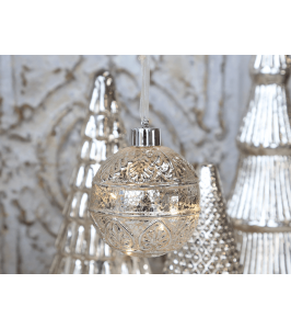 Chic Antique glaskugle med LED 51442-12