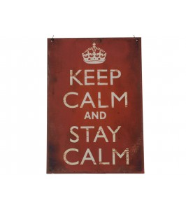 "Skilt ""Keep calm"" 31744-00 fra Chic Antique"