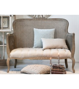 Chic Antique Fransk Sofa 40197-30 i fransk flet