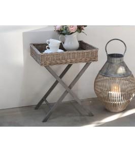 Chic Antique Bakkebord i flet fransk grå-20