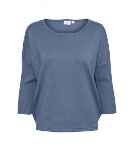 strik bluse blå saint tropez
