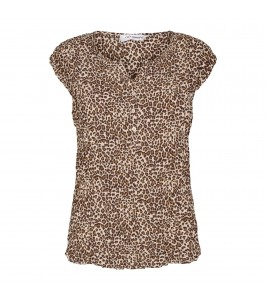 kortærmet damebluse leoprint co couture