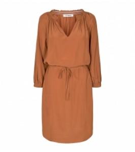 kort kjole cognacfarvet co couture