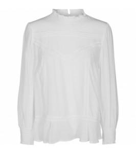 bluse med flæse co couture