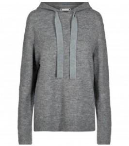 strik hoodie grå co couture
