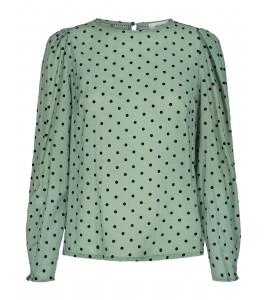 bluse med prikker co couture