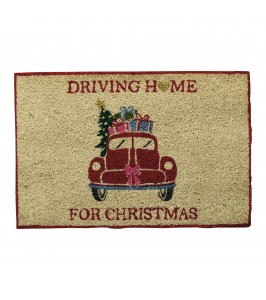 GreenGate dørmåtte | Christmas car red