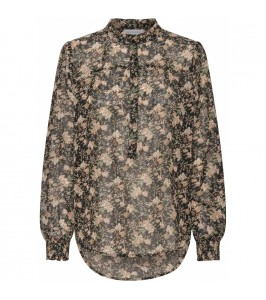 bluse blomsterprint continue