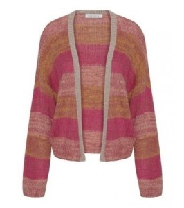 stribet cardigan continue