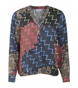 skjorte med zig zag print coster copenhagen