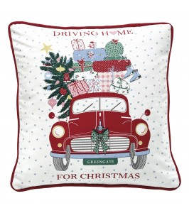 GreenGate Christmas car red pudebetræk fra Winter 2019