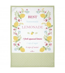 GreenGate Viskestykke Limona white piece printed
