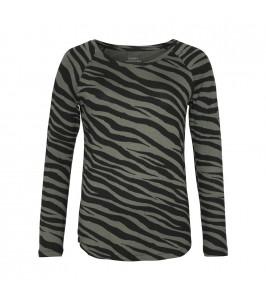 langærmet bluse comfy copenhagen zebraprint