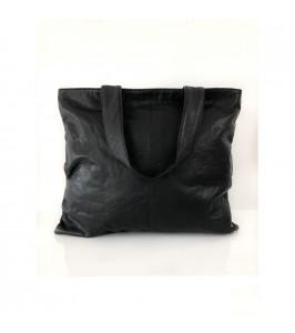 stor taske sort læder depeche
