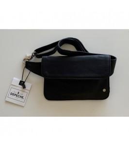 bæltetaske sort læder depeche
