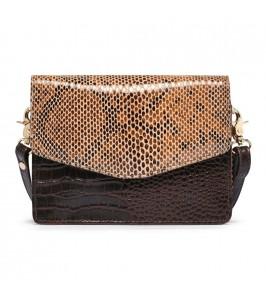lille taske croco snake brun depeche
