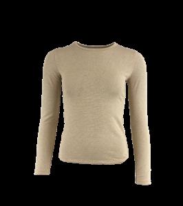 langærmet bluse med glimmer black colour