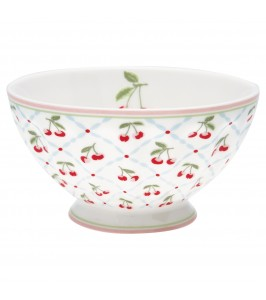 GreenGate Cherie white French bowl XL fra sommer 2020-kollektionen