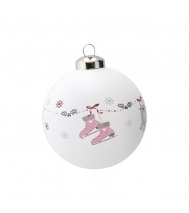 GreenGate Jingle bell white glaskugle xmabalgjib0106