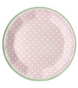 GreenGate melamintallerken Spot pale pink