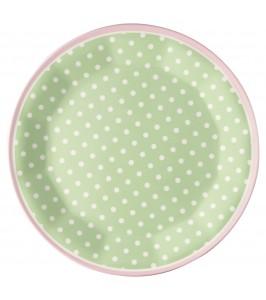 GreenGate melamintallerken Spot pale green