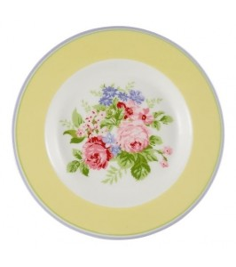 GreenGate tallerken Rose pale yellow