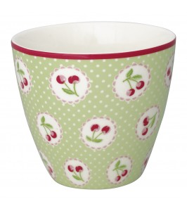 GreenGate lattekop Cherry berry pale green