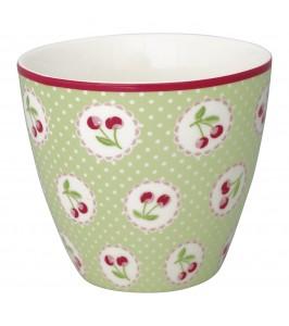 GreenGate lattekop Cherry berry pale green