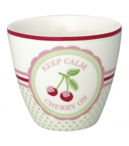 GreenGate Lattekop Cherry mega white