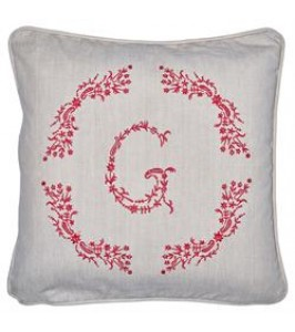 GreenGate Pudebetræk G red w/embroidery-20