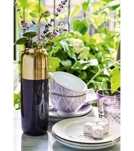 GreenGate vase i sort med guld 33 cm. høj