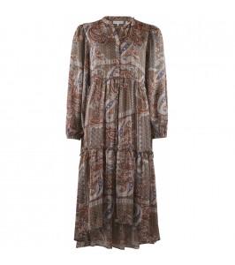 kjole paisley brun continue