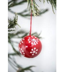 Ib Laursen Julekugle mellem snekrystal-20