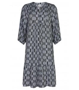 kjole med print in front