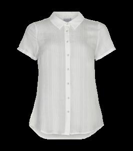 kortærmet skjorte white in front