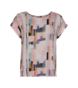 bluse rosa print in front