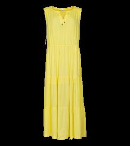 in front kjole gul