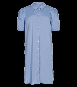 lang skjorte m. broderi blå in front