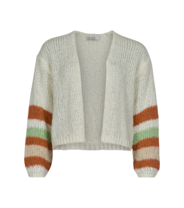 strik cardigan off white in front