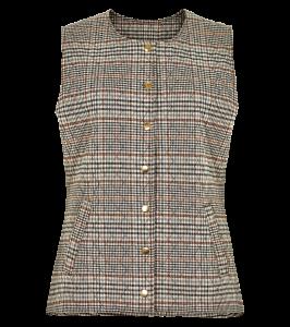 quiltet ternet dame vest in front
