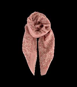 tørklæde rosa med blomster black colour