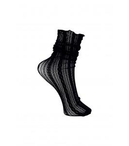 strømpe m. hulmønster sort black colour