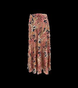midi lang nederdel 7/8 pink black colour