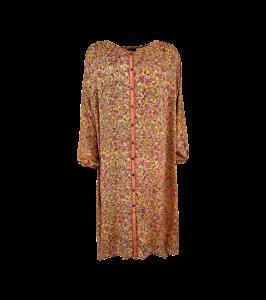 lang skjortekjole golden coral black colour