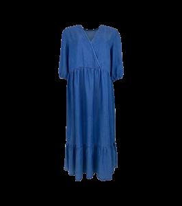 lang denim kjole blå black colour