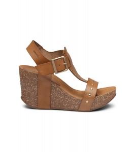 høj sandal brun m. nitter amust