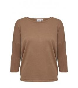 strik bluse lys brun saint tropez