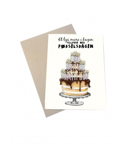 Mouse and Pen fødselsdagskort med kuvert | Et lys mere i kagen